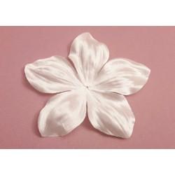 1 grande fleur en satin de soie ivoire 11,8 cm pour bijoux mariage, scrapbooking, carterie, couture