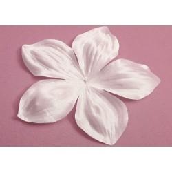 3 grandes fleurs en satin de soie blanche 11,8 cm pour bijoux mariage, scrapbooking, carterie, couture
