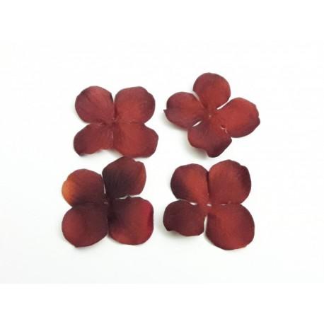 1 Fleur en velours couleur d'automne pour scrapbooking, carterie, couture, décoration