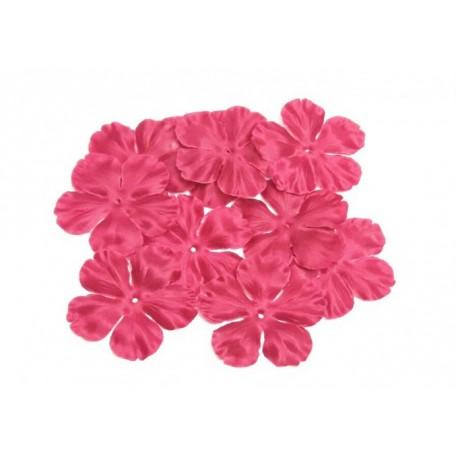 1 Fleur en satin de soie rouge bordeaux pour bijoux mariage, scrapbooking, carterie, couture