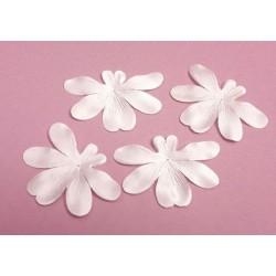 1 Fleur orchidée en satin de soie ivoire pour bijoux mariage, scrapbooking, carterie, couture