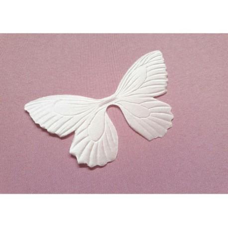 1 papillon en satin de soie ivoire pour bijoux mariage, scrapbooking, carterie, couture