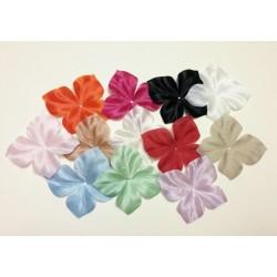 Lot de 12 papillons en satin de soie couleur pour bijoux mariage, scrapbooking, carterie, couture