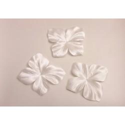 3 papillons en satin de soie ivoire pour bijoux mariage, scrapbooking, carterie, couture