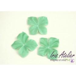 1 papillon en satin de soie vert amande pour bijoux mariage, scrapbooking, carterie, couture