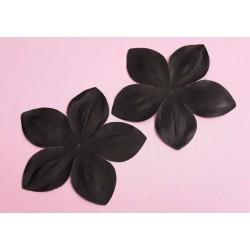 1 grande fleur en satin de soie noire 11-8 cm pour bijoux mariage, scrapbooking, carterie, couture