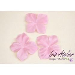 3 papillons en satin de soie rose pour bijoux mariage, scrapbooking, carterie, couture