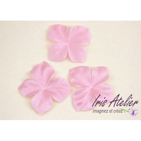 1 papillon en satin de soie rose pour bijoux mariage, scrapbooking, carterie, couture