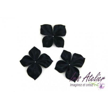 1 papillon en satin de soie noir pour bijoux mariage, scrapbooking, carterie, couture
