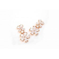 2 pendants doré rosé en ziconium pour réalisation de bijoux, bijoux mariage