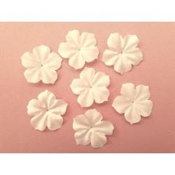 Lot de 3 fleurs en satin de soie ivoire pour bijoux mariage, scrapbooking, carterie, couture