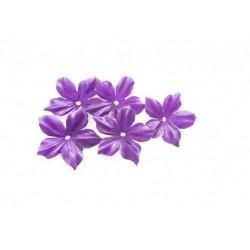1 Fleur en satin de soie violette pour bijoux mariage, scrapbooking, carterie, couture