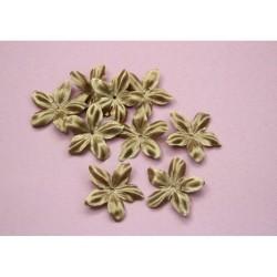 3 fleurs en satin de soie marron beige pour bijoux mariage, scrapbooking, carterie, couture