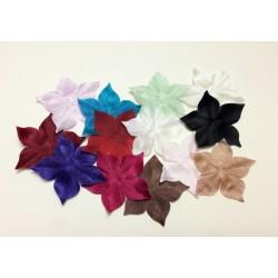 Lot de 13 fleurs en satin de soie couleur pour bijoux mariage, scrapbooking, carterie, couture