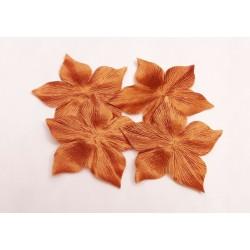 1 Fleur en satin de soie mordorée pour bijoux mariage, scrapbooking, carterie, couture