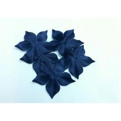 1 Fleur en satin de soie bleu marine pour bijoux mariage, scrapbooking, carterie, couture