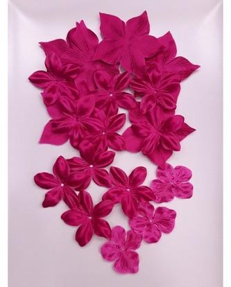 Jolies fleurs en satin et soie pour vos créations